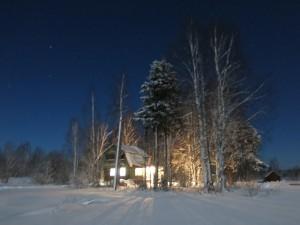Щипцово зимняя лунная ночь